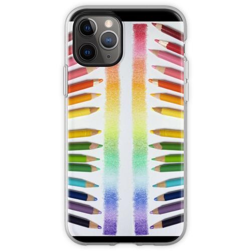 Buntstift Regenbogen Flexible Hülle für iPhone 11 Pro