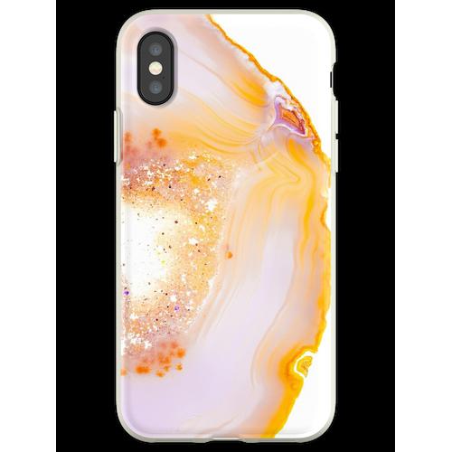 Rosa Geode Achat Kristall Flexible Hülle für iPhone XS
