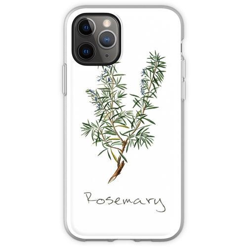 Rosmarin-Kraut, Rosmarin-Pflanze, Rosmarin-Druck, Rosmarin-Kunstdru Flexible Hülle für iPhone 11 Pro