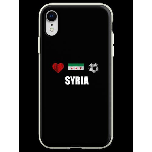 Syrien Fußballtrikot - Syrien Fußballtrikot Flexible Hülle für iPhone XR