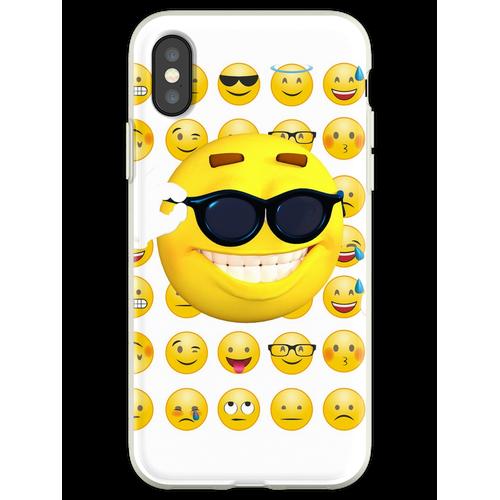 Emoji Sonnenbrille, Emoji lustig, Emoji Sonnenbrille und Sonne Flexible Hülle für iPhone XS