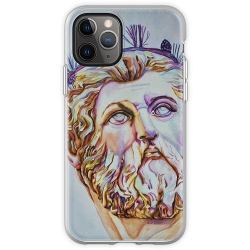 Neptun - Vom Neptunbrunnen, Florenz, Italien Flexible Hülle für iPhone 11 Pro