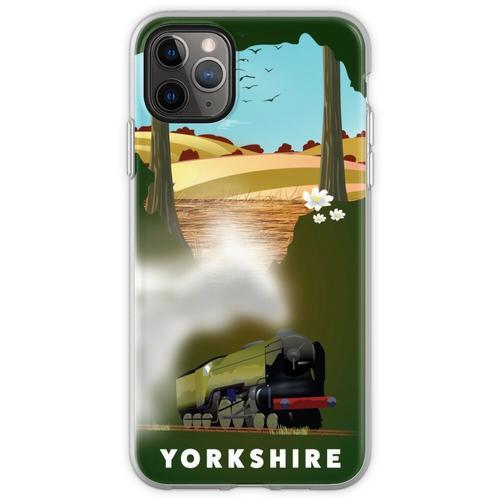 Yorkshire-Eisenbahnplakat Flexible Hülle für iPhone 11 Pro Max
