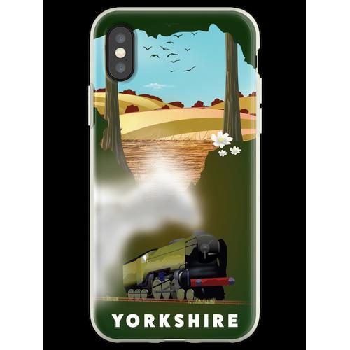 Yorkshire-Eisenbahnplakat Flexible Hülle für iPhone XS