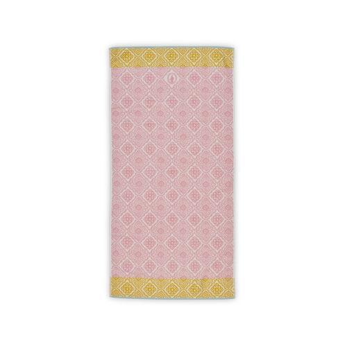 PIP Studio Jaquard Check Pink Badetuch 70 x 140 cm