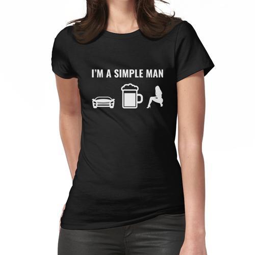 Autos Bier Frauen Simple Man Frauen T-Shirt