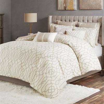 Clarity Comforter Bed Set Ivory, King, Ivory