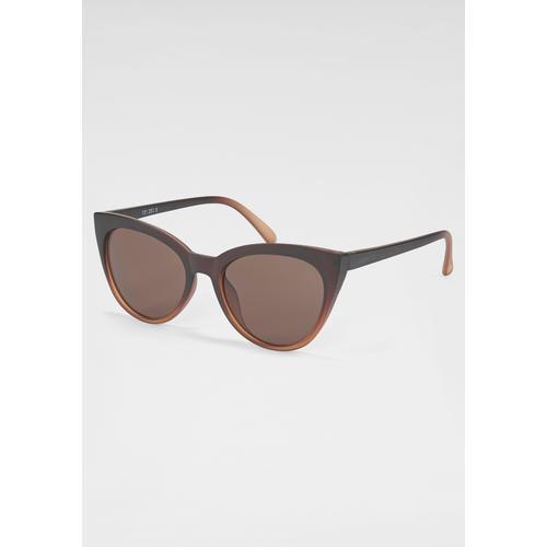 catwalk Eyewear Sonnenbrille, Retro-Look, Leichte Cat-Eye Optik braun Damen Ovale Sonnenbrille Sonnenbrillen Accessoires