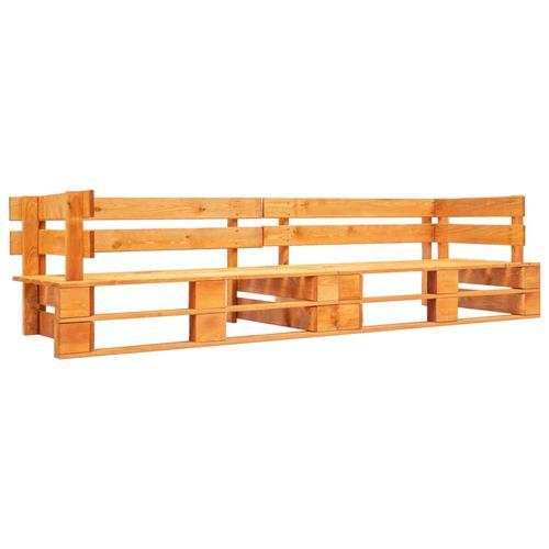 vidaXL Garten-Palettensofa 2-Sitzer Honigbraun Holz