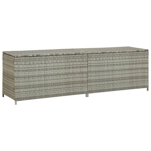 vidaXL Gartenbox Poly Rattan 200x50x60 cm Grau