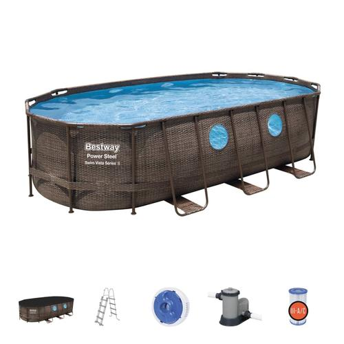 Bestway Swimmingpool-Set Power Steel Swim Vista Series 549×274×122 cm