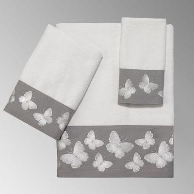Yara Bath Towel Set Gray Bath Hand Fingertip, Bath Hand Fingertip, Gray