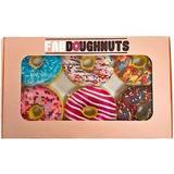 Fab Dog Box Of Doughnuts Squeaky Stuffing-Free Plush Dog Toy