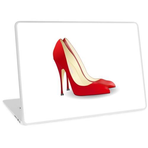 High Heels. Absätze, Schuhe, Pumps, Stilettos, Rot. Laptop Skin
