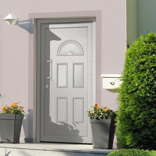 vidaXL Haustür Weiß 110x210 cm