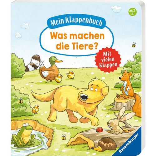 Mein Klappenbuch: Was machen die Tiere?, bunt