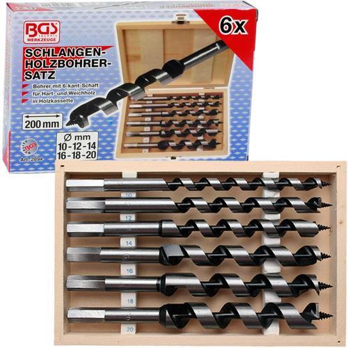Bgs Schlangenbohrer-ø 10-20mm Holz-bohrer-set 200mm Weich- Hartholz 6-tlg. Art-nr.: 2894