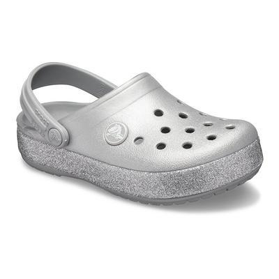 Crocs Silver Kids' Crocband™ Glitter Clog Shoes