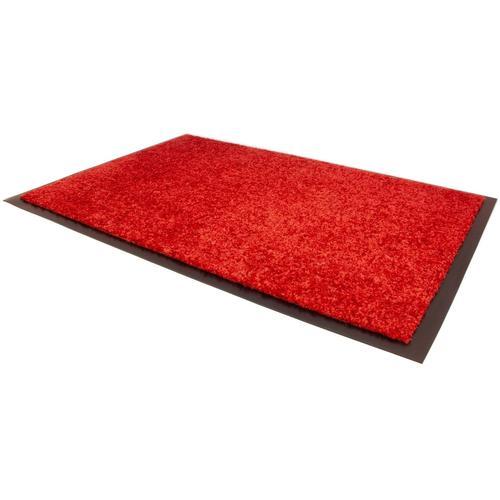 Primaflor-Ideen in Textil Fußmatte CLEAN, rechteckig, 9 mm Höhe, Schmutzfangmatte, In- und Outdoor geeignet, waschbar rot Schmutzfangläufer Läufer Bettumrandungen Teppiche