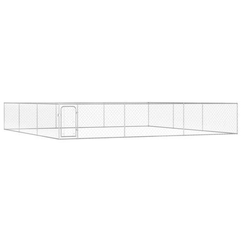 vidaXL Outdoor-Hundezwinger Verzinkter Stahl 6 x 6 x 1 m