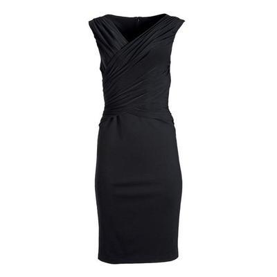 Boston Proper - Black Draped Sleeveless Sheath Dress - Black - 04