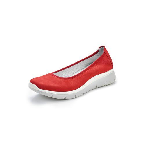 Avena Damen Ballerinas Rot einfarbig