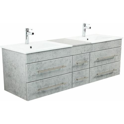 Badmöbel Milano XL 172cm Doppel- Waschtisch Beton
