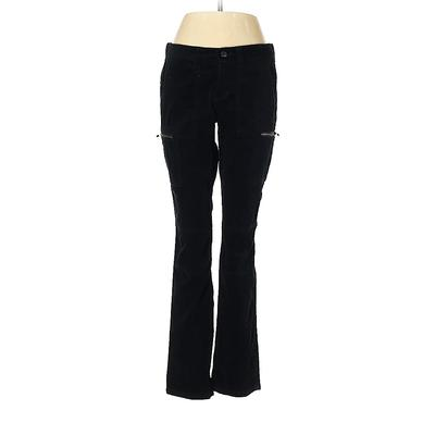Ann Taylor LOFT Velour Pants - Low Rise: Black Activewear - Size 6 Petite