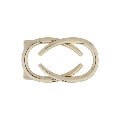 RETTUNGSRING by showroom 019° Gürtelschnalle, in geschwungenem Design goldfarben Damen Gürtelschnallen Accessoires Gürtelschnalle