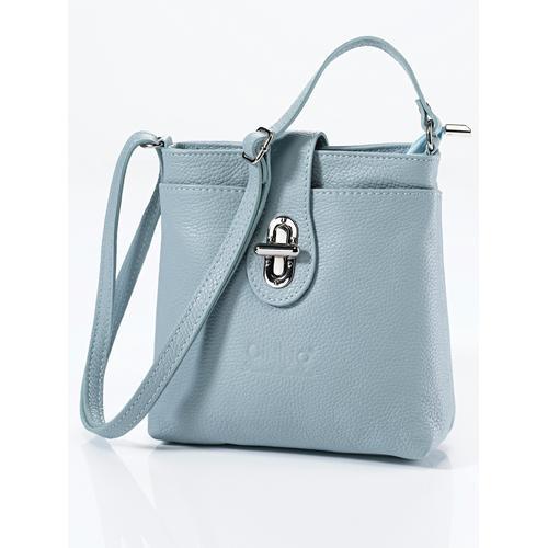 Avena Damen Leder-Handtasche Rundum Sorglos Blau