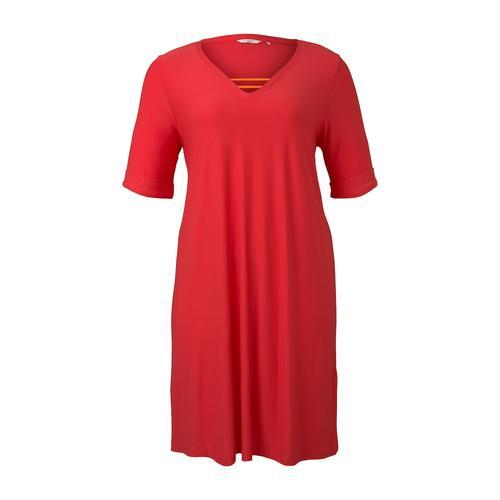 TOM TAILOR MY TRUE ME Damen Schlichtes Basic Kleid, rosa, Gr.48
