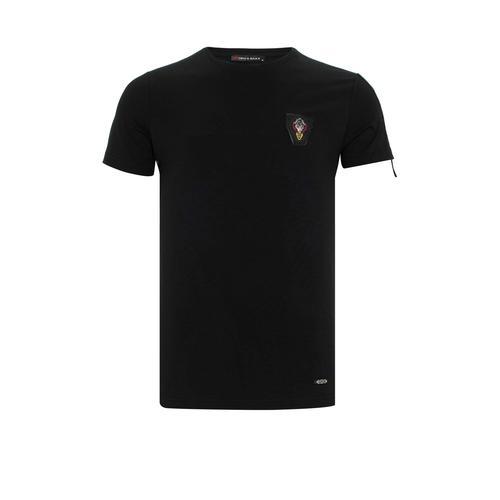 Cipo & Baxx T-Shirt, mit Aufnäher schwarz Herren Shirts T-Shirt