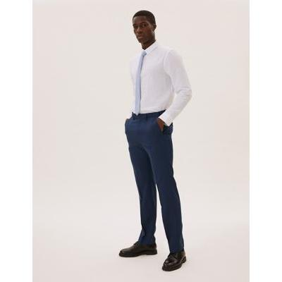 Marks & Spencer The Ultimate Blue Regular Fit Trousers - Blue - 40-31