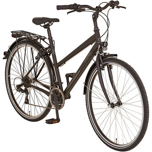 Prophete Trekkingrad ENTDECKER 20.BST.10 Trekking-Bike 28, 21 Gang, Shimano, Shimano Tourney Schaltwerk, Kettenschaltung schwarz Damen Damenfahrräder Fahrräder Zubehör