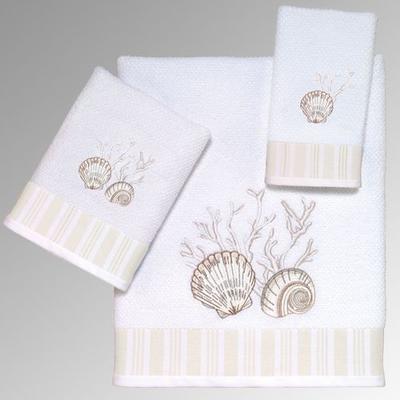 Destin Bath Towel Set White Bath Hand Fingertip, Bath Hand Fingertip, White