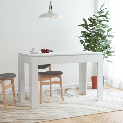 vidaXL Esstisch Weiß 120×60×76 cm Spanplatte