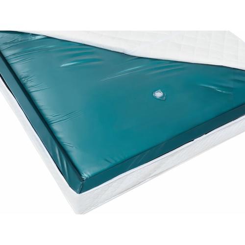 Wasserbettmatratze Blau Vinyl 160 x 200 cm Mono System Stark beruhigt Soft Side ein Wasserkern