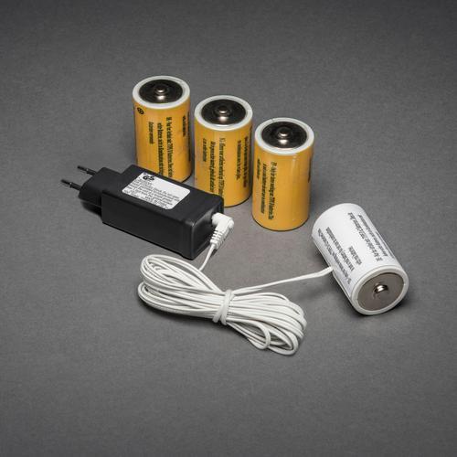 KONSTSMIDE Netzadapter für Batterieartikel weiß Kabel Adapter Zubehör Computer Dekoleuchten
