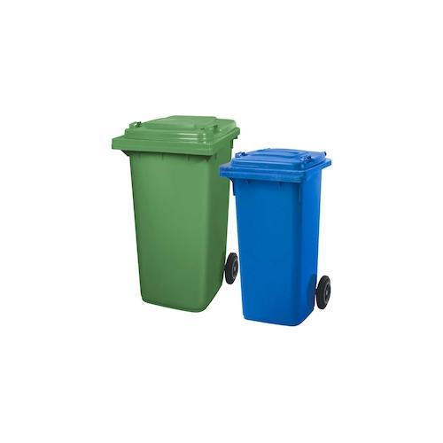 BRB Set mit 1x DIN Mülltonne 120 Liter blau und 1x DIN Mülltonne 240 Liter grün