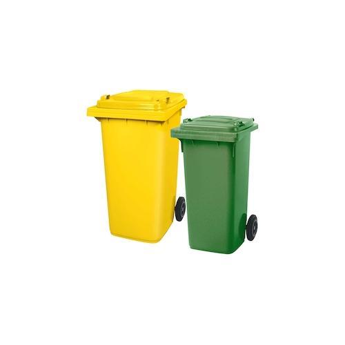 BRB Set mit 1x DIN Mülltonne 120 Liter grün und 1x DIN Mülltonne 240 Liter gelb
