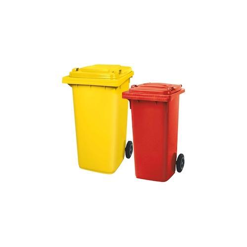 BRB Set mit 1x DIN Mülltonne 120 Liter rot und 1x DIN Mülltonne 240 Liter gelb