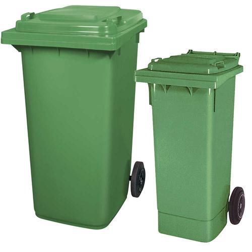 BRB Set mit 1x DIN Mülltonne 80 Liter grün und 1x DIN Mülltonne 240 Liter grün