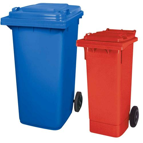 BRB Set mit 1x DIN Mülltonne 80 Liter rot + 1x DIN Mülltonne 240 Liter blau