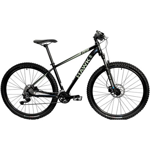 HAWK Bikes Mountainbike Trail Five 29, 20 Gang, Shimano, Deore Schaltwerk, Kettenschaltung schwarz Full Suspension Mountainbikes Fahrräder Zubehör