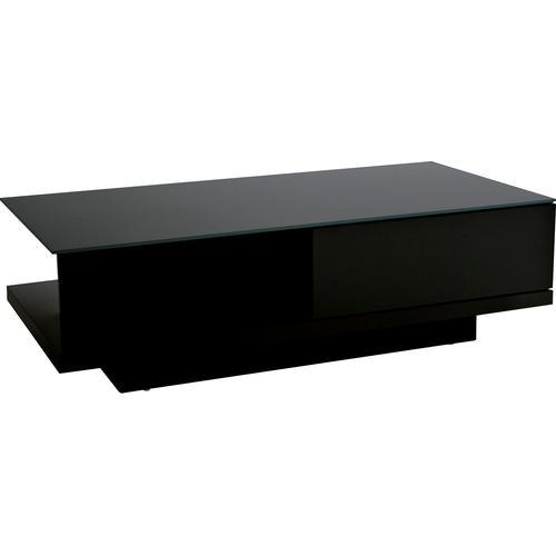 SalesFever Couchtisch, mit Tischplatte aus gehärtetem Kristallglas schwarz Couchtisch Couchtische eckig Tische