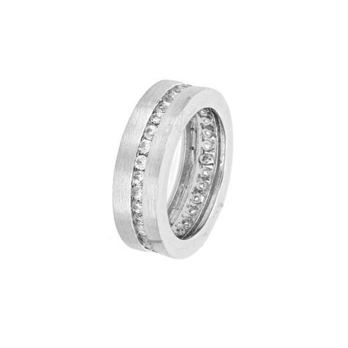La Piora Fingerring Eternity Ring, mit Zirkonia silberfarben Damen Fingerringe Ringe Schmuck