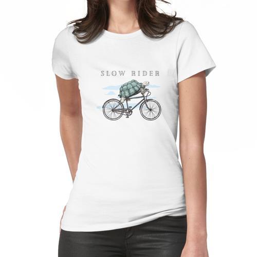 Schildkröte-Schildkröte, die Fahrrad fährt Frauen T-Shirt