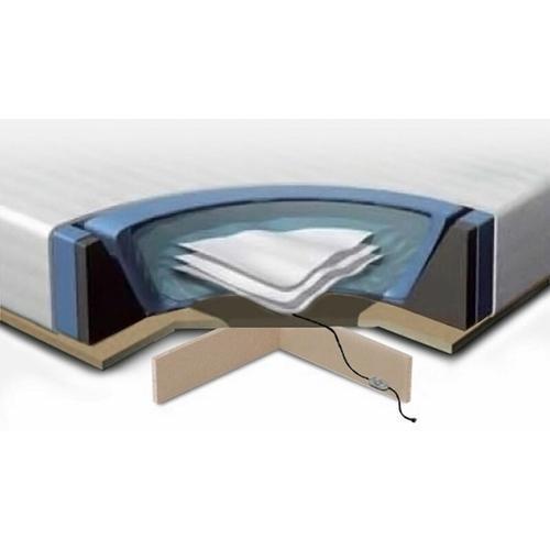 Wasserbettmatratzen Set Schaumstoff Polyester Vinyl MDF-Platte für Bett 180 x 200 cm inklusive