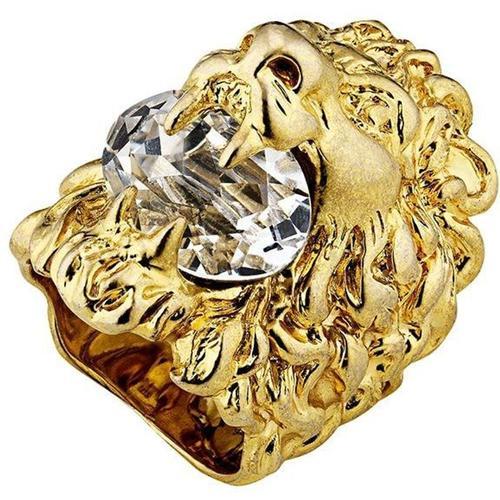 Gucci Löwenkopf-Ring mit Kristall