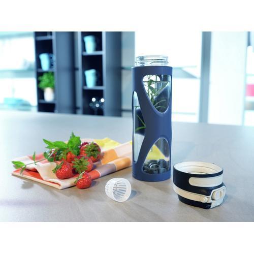 Leifheit Trinkflasche Flip, 600 ml blau Aufbewahrung Küchenhelfer Haushaltswaren